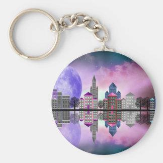 purplemooncitytrees11000.jpg basic round button key ring