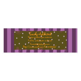 purplestripe skinny pack of skinny business cards