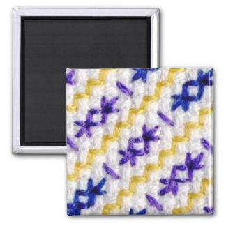 Purplework 2 square magnet