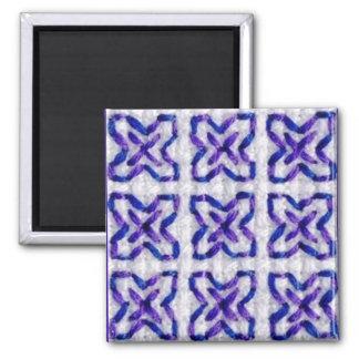 Purplework 3 square magnet