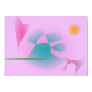 "Purplish Pink 5"" X 7"" Invitation Card"