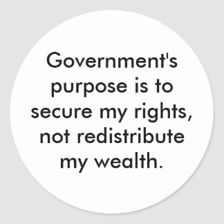 Purpose of Government stickers