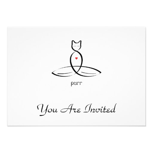 Purr - Fancy style text. Custom Invitations