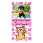 Purr-fect Cat Personalised Girl's Kids Valentine Picture Card