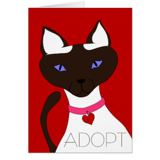 Purr-fect Moira ADOPT Cards - customizable