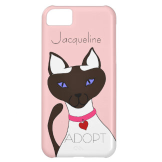Purr-fect Moira ADOPT pink Siamese cat 5C iPhone 5C Cover