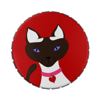 Purr-fect Moira large round candy tin