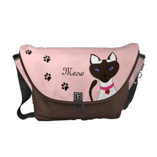 Purr-fect Moira Pink Commuter Bag Blank Back