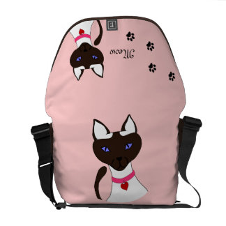 Purr-fect Moira Pink Commuter Bag Two-Sided