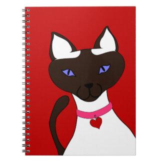 Purr-fect Moira Red Notebook