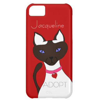 Purr-fect Moira red Siamese cat ADOPT iPhone 5C Case For iPhone 5C