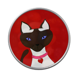 Purr-fect Moira see-thru round candy tin