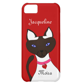 Purr-fect Moira Siamese Cat names red iPhone 5C Cover For iPhone 5C