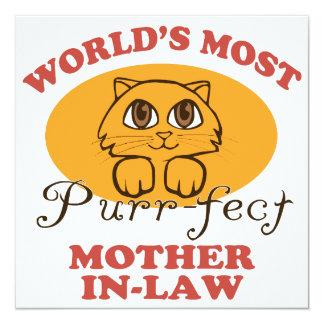 Purr-fect Mother-In-Law 13 Cm X 13 Cm Square Invitation Card