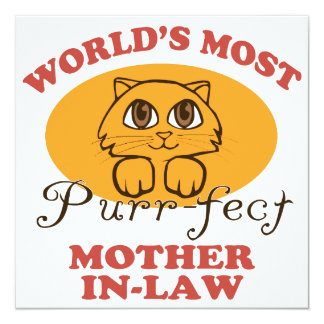 Purr-fect Mother-In-Law Custom Invitation