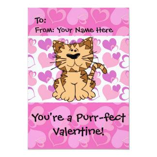 "Purr-fect Valentine 5"" X 7"" Invitation Card"