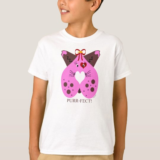 Purr-Fect Valentine Kitty Cat T-Shirt