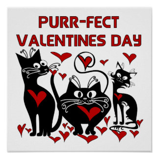 Purr-fect Valentines Day Posters