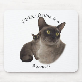 PURR-fection Chocolate Burmese Mouse Mat