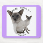 PURR-fection Lilac Point Siamese Mouse Mat