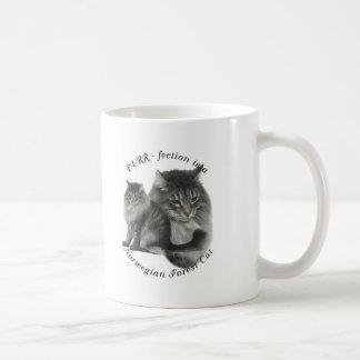 PURR-fection Norwegian Forest Cat Basic White Mug