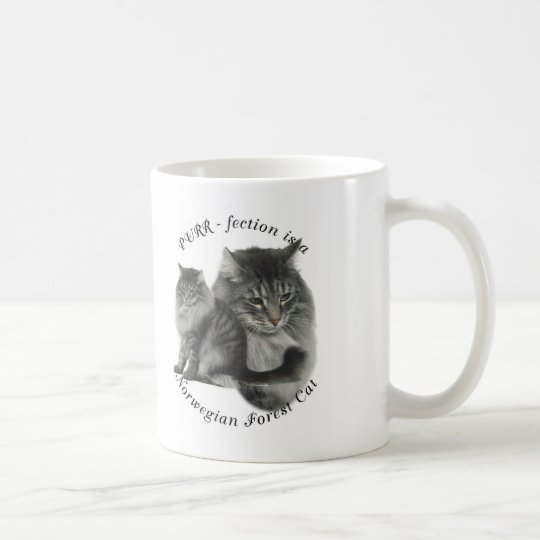 PURR-fection Norwegian Forest Cat Coffee Mug