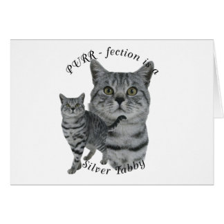 PURR-fection Silver Tabby Card