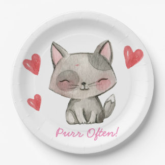 Purr often 9inch plates