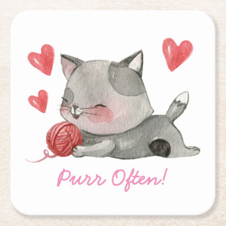 purr often coasters