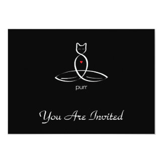 "Purr - Regular style text. 5"" X 7"" Invitation Card"