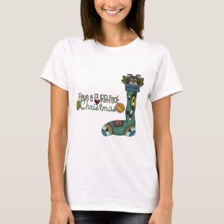 Purrfect Christmas Stocking Cat T-Shirt