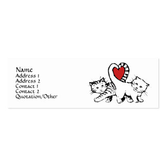 Purrfect for each other business card templates