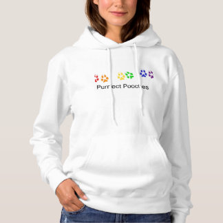Purrfect Pooches rainbow logo hoodie