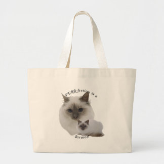 PURRfection Birman Lilac Large Tote Bag