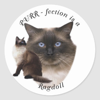 Purrfection Ragdoll Classic Round Sticker