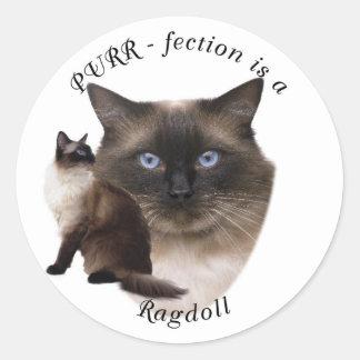 Purrfection Ragdoll Round Sticker
