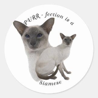 PURRfection Siamese Cat Lilac Classic Round Sticker