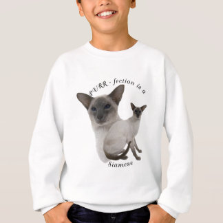 PURRfection Siamese Cat Lilac Sweatshirt