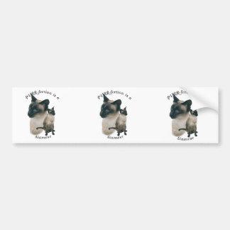 PURRfection Siamese Seal Point Bumper Sticker