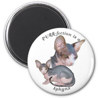 PURRfection Sphynx Magnet