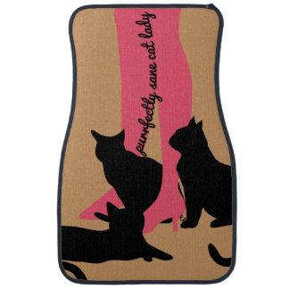 Purrfectly Sane Cat Lady Floor Mats