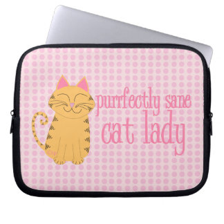 Purrfectly Sane Cat Lady Laptop Sleeve