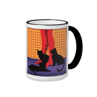 Purrfectly Sane Cat Lady Ringer Mug