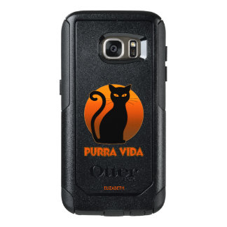 Purring Cat And Sun Purra Vida Pure Life Funny OtterBox Samsung Galaxy S7 Case