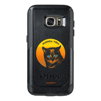 Purring Cat And Sun Purrra Vida Pure Life Cool OtterBox Samsung Galaxy S7 Case