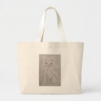 Purring Cat Tote Bags