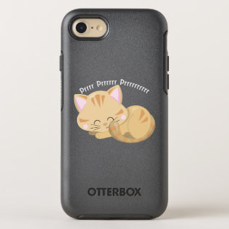 Purring Sleeping Tan Tabby Kitten OtterBox Symmetry iPhone 8/7 Case