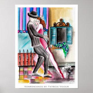 Purring Tango Ronroneando Poster
