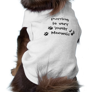 Purring Very Lovely Meowsic Music Funny Pet Cloth Sleeveless Dog Shirt