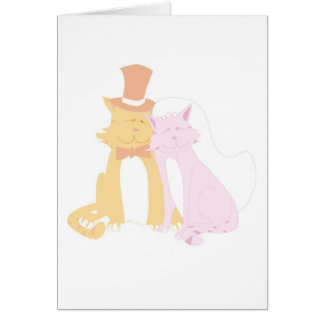 Purring Wedding Cats Greeting Card